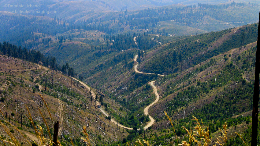 Slide ridge road from Chelan