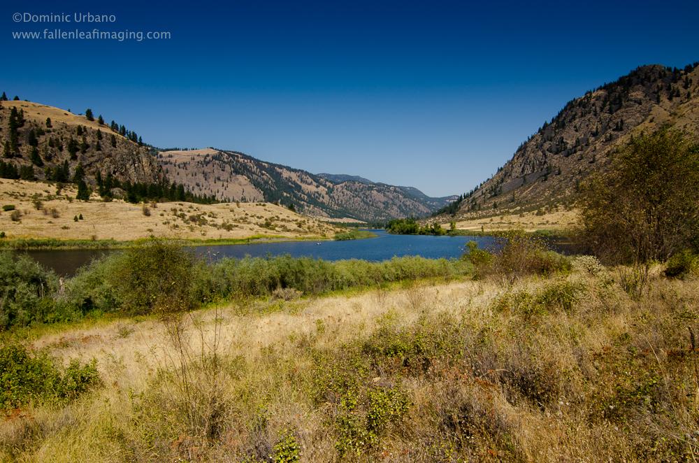 Blue lake in the Slaheiken Valley, Loomis WA.