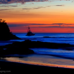 carrillo beach sunset