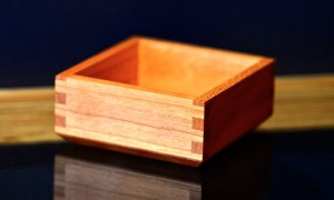 A cherry wood box.