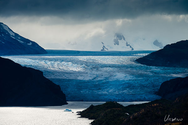 Grey glacier in Torres del Paine